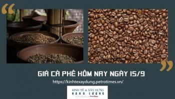 Giá cà phê hôm nay ngày 15/9: Thị trường trong nước tăng nhẹ