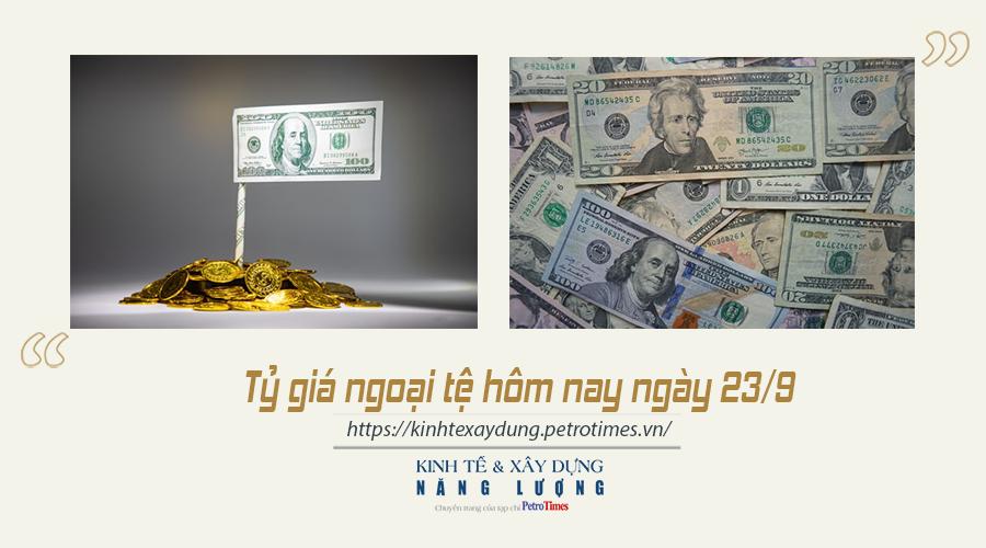 Tỷ giá ngoại tệ hôm nay ngày 23/9: Đồng USD biến động mạnh trên thị trường quốc tế