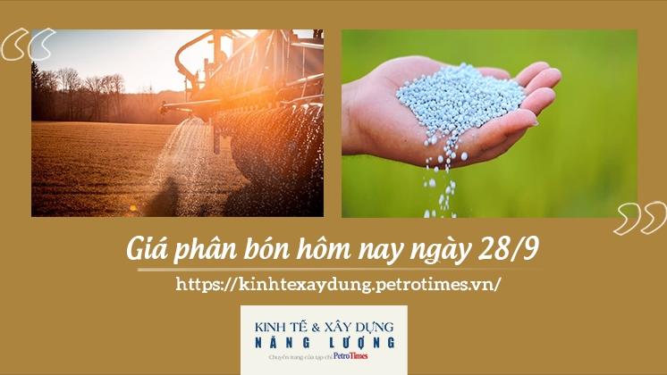 Giá phân bón hôm nay ngày 28/9: Cao nhất 19.000 đồng/kg