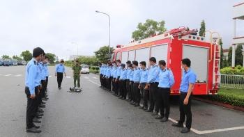 THACO Chu Lai huấn luyện nghiệp vụ phòng cháy chữa cháy