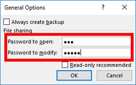 Cách đặt mật khẩu cho file Excel đơn giản nhất