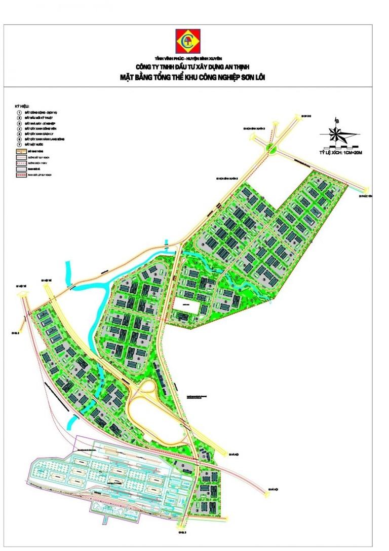 Vĩnh Phúc: Phê duyệt quy hoạch chi tiết xây dựng tỷ lệ 1/500 Khu công nghiệp Sơn Lôi