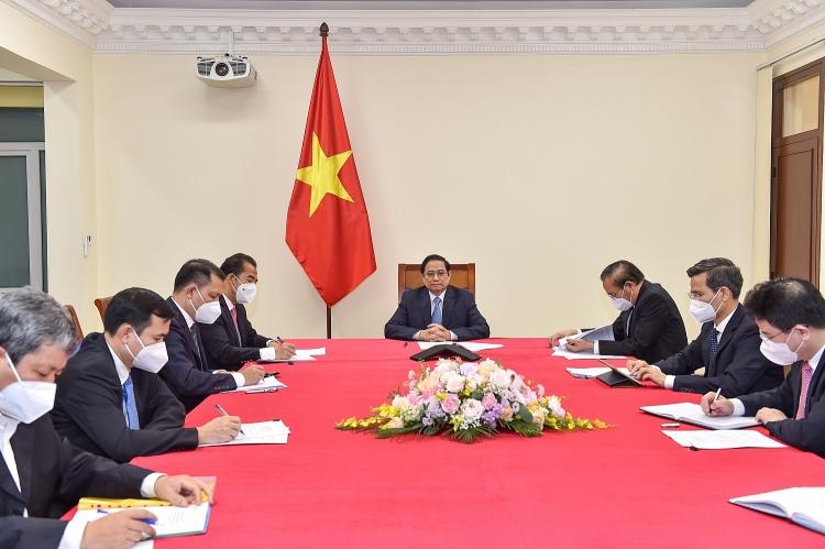 Thủ tướng Phạm Minh Chính đề nghị Chính phủ Áo tạo thuận lợi cho việc xuất khẩu nông thủy sản