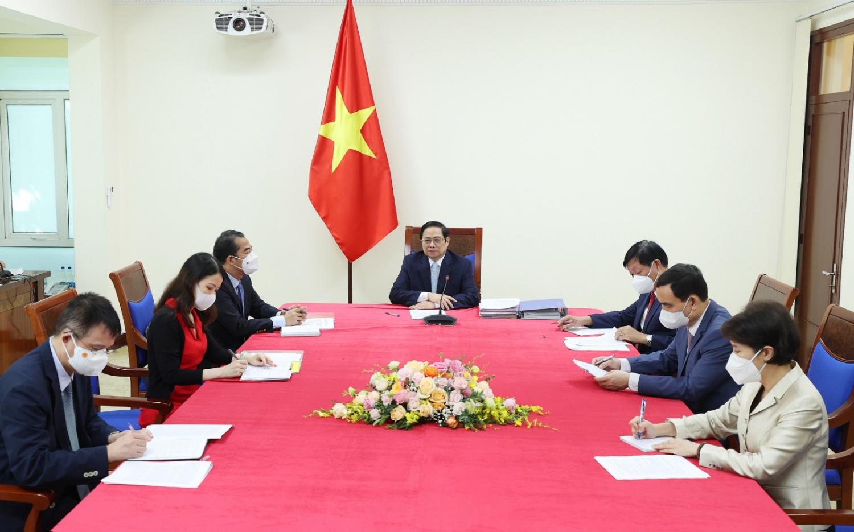 Thủ tướng Phạm Minh Chính đề nghị COVAX phân bổ nhanh số lượng vắc-xin đã cam kết cho Việt Nam trong năm 2021