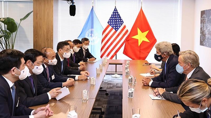 Chủ tịch nước Nguyễn Xuân Phúc gặp Lãnh đạo cấp cao các nước và Chủ tịch Ngân hàng thế giới