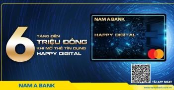 Tin nhanh ngân hàng ngày 31/3: Nam A Bank ra mắt thẻ tín dụng online Happy Digital