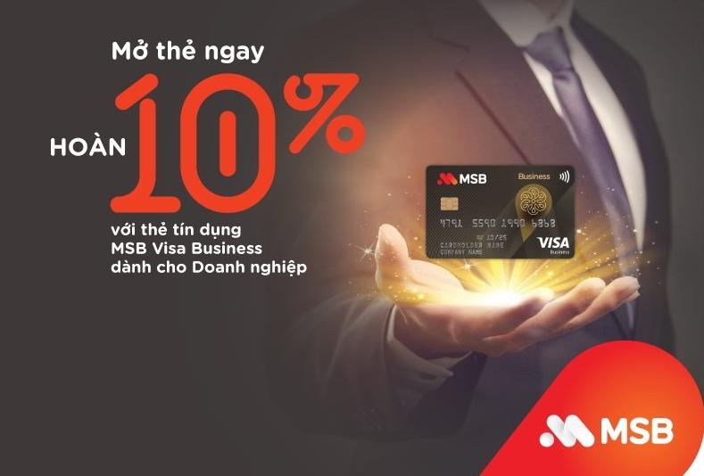 Tin nhanh ngân hàng ngày 21/7: MSB chính thức ra mắt Thẻ tín dụng MSB Visa Business