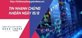 Tin nhanh chứng khoán ngày 15/9: Thị trường bật tăng mạnh sau 2 phiên giảm điểm