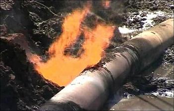 Một đoạn đường ống khí đốt ở miền trung Ukraine đã bị nổ