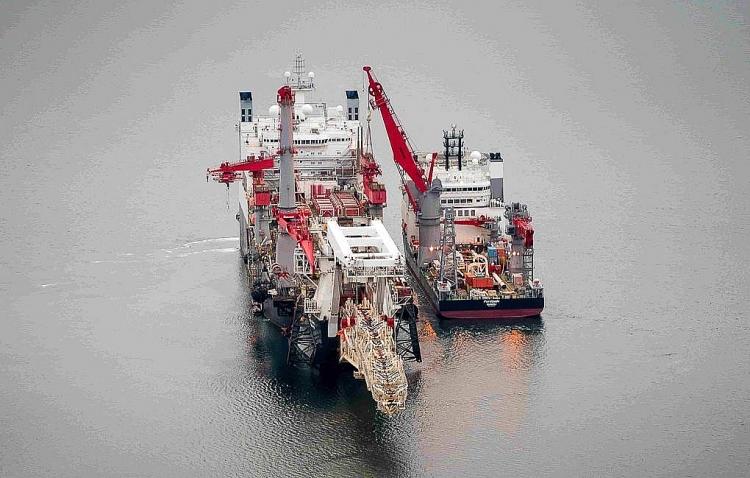 Rất nhiều tàu hải quân, tàu chiến tăng cường hoạt động trong khu vực xây dựng Nord Stream 2