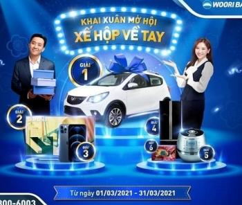 """Ngân hàng Woori Bank """"tung"""" ra chương trình """"Khai Xuân Mở Hội – Xế Hộp Về Tay"""""""
