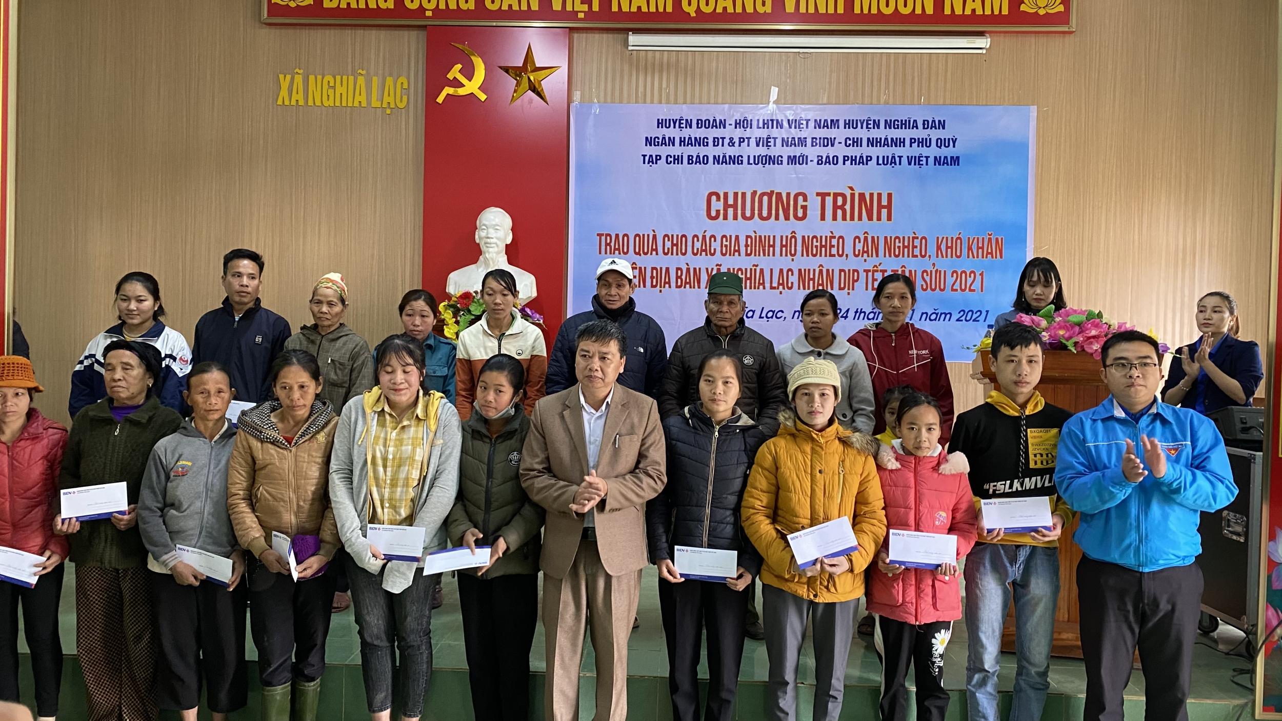 Nghệ An: BIDV Xuân yêu thương 2021 cùng bà con xã Nghĩa Lạc và Quang Tiến